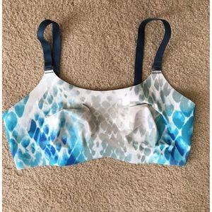 Other - White & blue sports bra